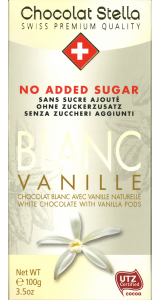 Швейцарски бял шоколад Stella без захар - Ванилия