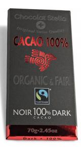 Швейцарски черен шоколад Преживяване - 100% Какао, 70 грама