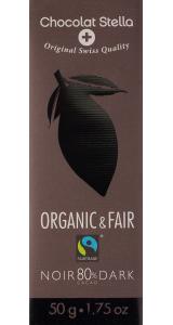 Швейцарски черен шоколад - 80% Какао, 50 грама