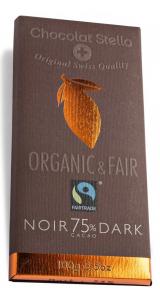 Швейцарски черен шоколад - 75% Какао