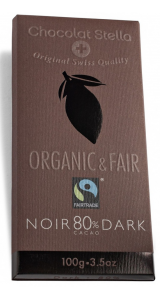 Швейцарски черен шоколад - 80% Какао, 100 грама