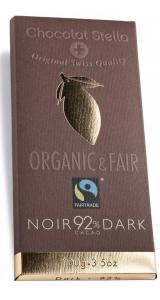 Швейцарски черен шоколад - 92% Какао, 100 грама