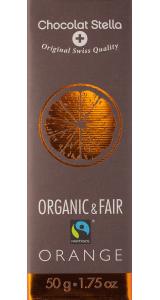 Швейцарски черен шоколад - 72% Какао със захаросани портокалови кори