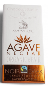 Швейцарски черен шоколад с нектар от Агаве - 71% Какао, 80 грама