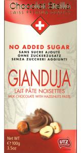 Швейцарски млечен шоколад Stella без захар – Gianduja